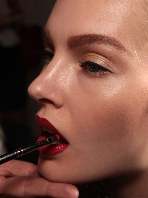 Red Lip Gold Eye Jason Wu Spring 2013 Backstage Makeup Authentic