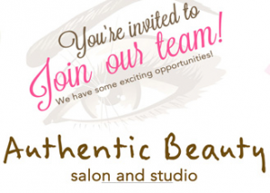 Join our team, salon hiring